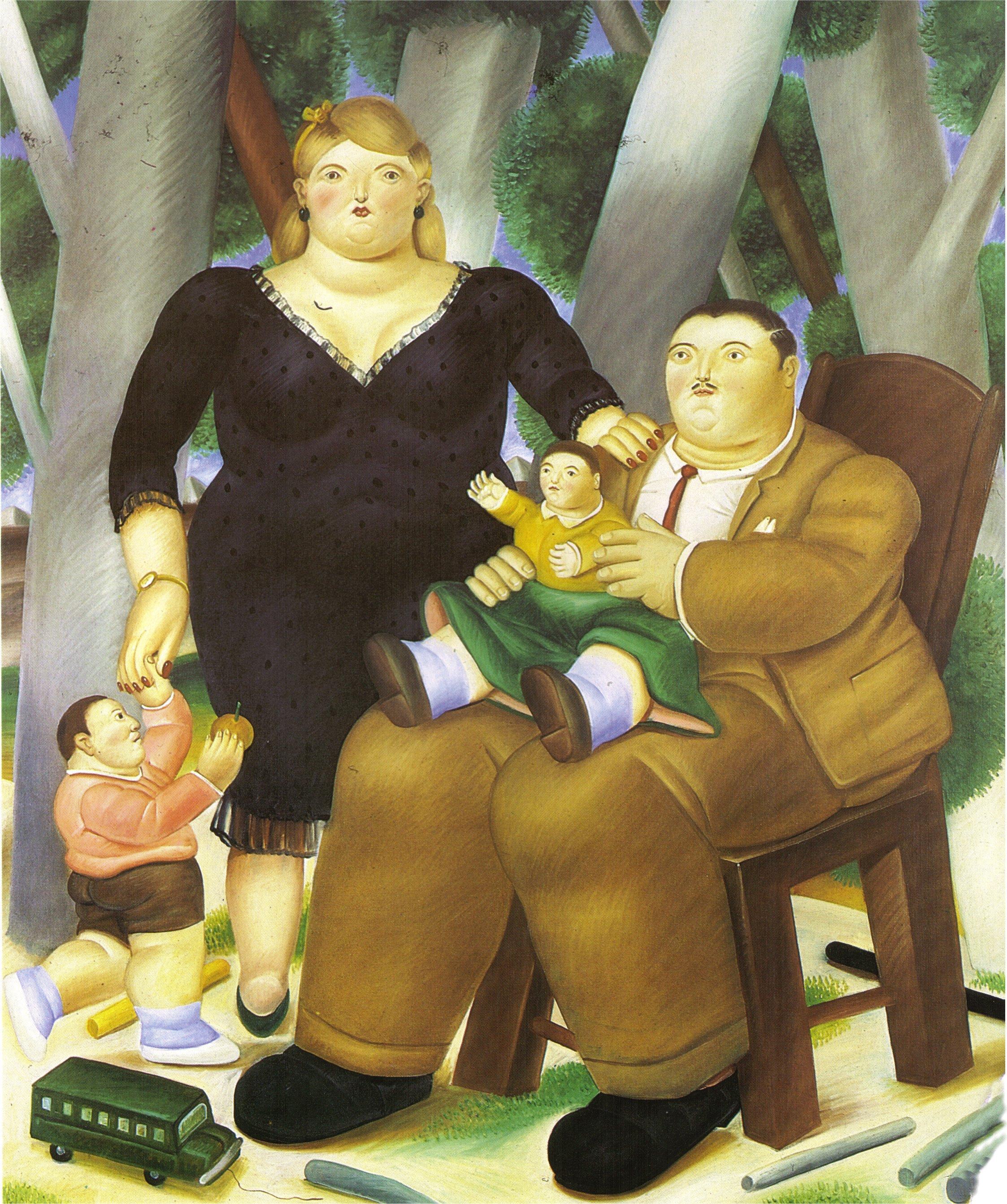 Family 1983 fernando botero - Fotos de botero ...
