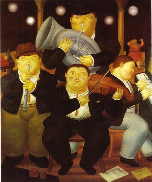 Four Musicians, 1984 - Fernando Botero