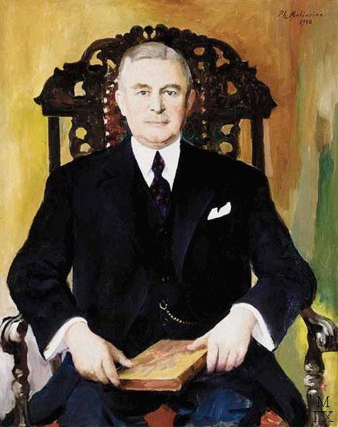 Portrait of a man with book, 1940 - Filipp Malyavin