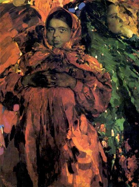 Two girls, 1910 - Philippe Maliavine