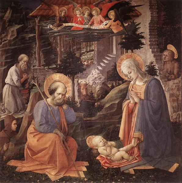 Adoration Of The Child With Saints, 1455 - Fra Filippo Lippi