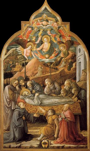 Funeral of St. Jerome, 1460 - 1465 - Filippo Lippi