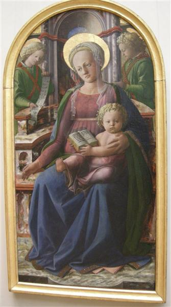 Madonna and Child Enthroned with Two Angels, 1440 - Filippo Lippi