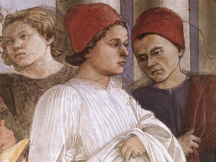 The Funeral of St. Stephen (detail), c.1460 - Filippo Lippi