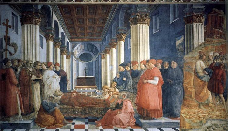 The Funeral of St. Stephen, c.1460 - Filippo Lippi