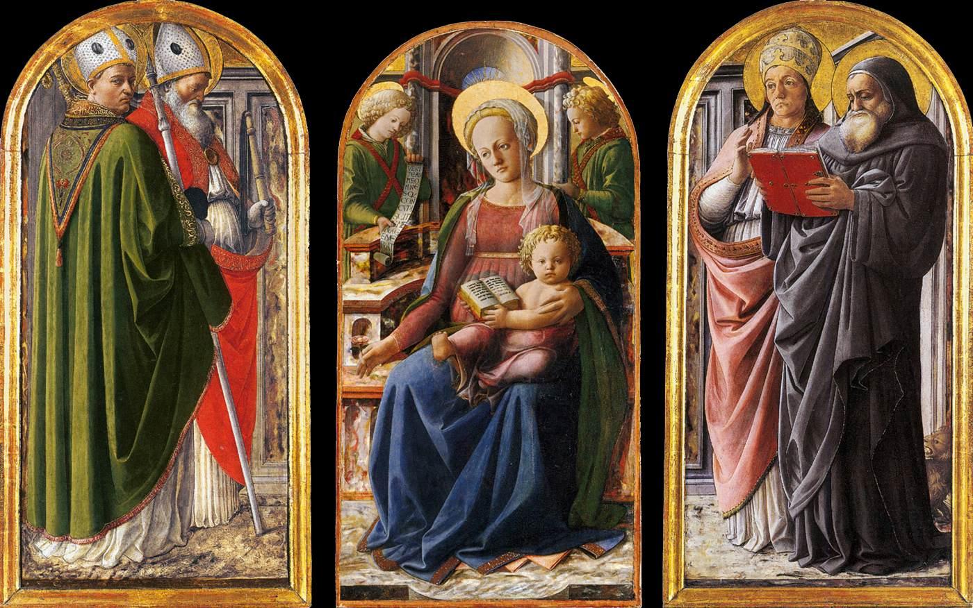 Triptych, c.1437 - Filippo Lippi - WikiArt.org