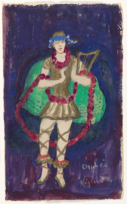 "Costume design (Nijinsky) for artist's ballet ""Orphée of the Quat-z-arts"", 1912 - Florine Stettheimer"