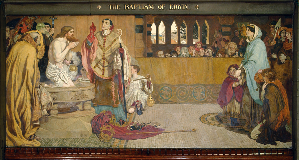 Cartoon for the Baptism of Edwin (c.585-633) King of Northumbria and Deira, 1879-1891