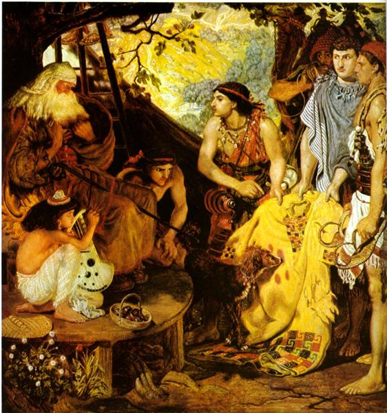 Jacob and Joseph's Coat - Ford Madox Brown