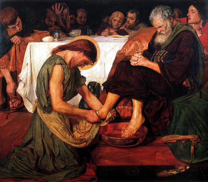 Jesus Washing Peter's Feet, 1876 - Ford Madox Brown