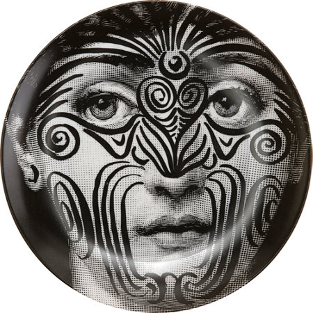 Theme & Variations Decorative Plate #9 (Tattoo Face) - Fornasetti