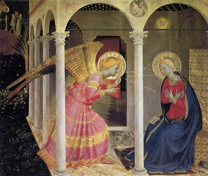 Annunciation, 1433 - 1434 - Fra Angelico