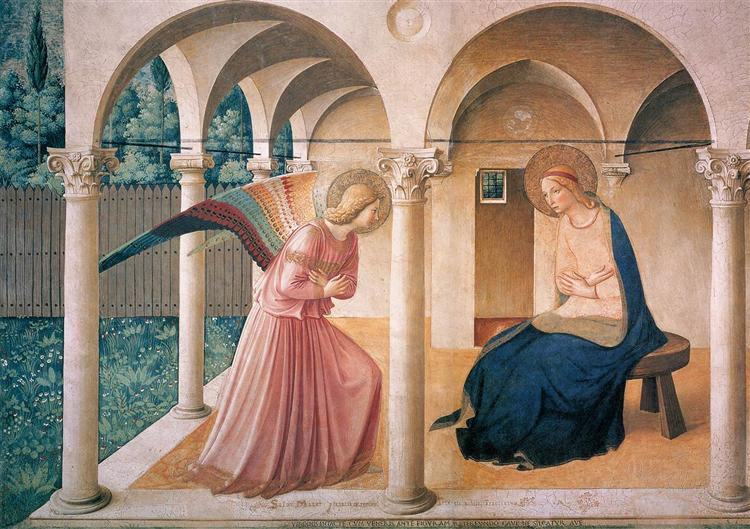 Annunciation, 1442 - 1443 - Fra Angelico