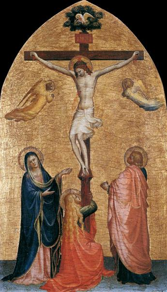 Crucifixion with the Virgin, John the Evangelist, and Mary Magdelene, 1419 - 1420 - Fra Angelico
