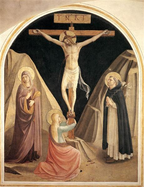 Crucifixion with the Virgin, Mary Magdalene and St. Dominic, 1441 - 1442 - Fra Angelico