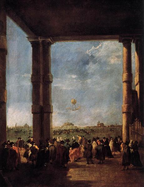 Francesco Guardi: Hot Air Balloon Rising, 1784