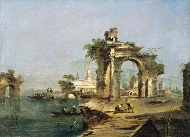 Venetian Capriccio - Guardi Francesco