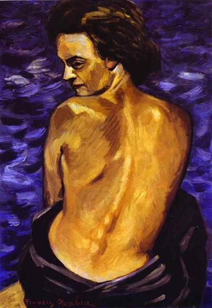 Nude from Back on a Background of the Sea, 1940 - Francis Picabia