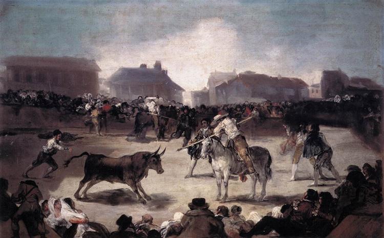 A Village Bullfight, 1812 - 1814 - Francisco Goya