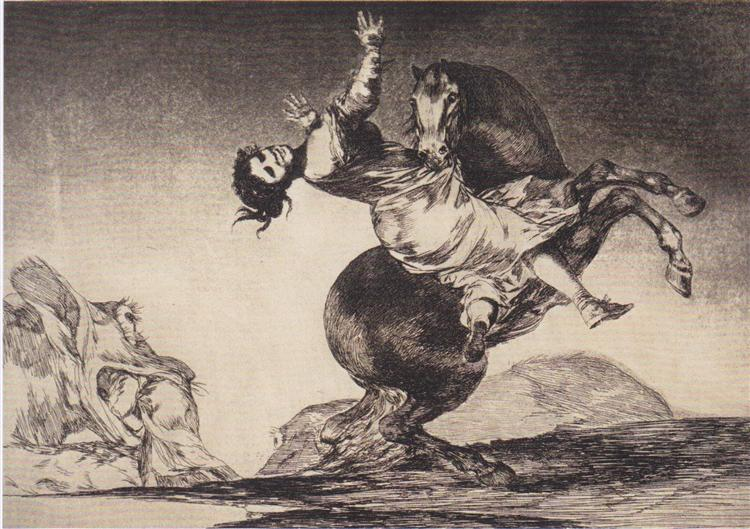 Abducting horse, 1819 - 1823 - Francisco Goya