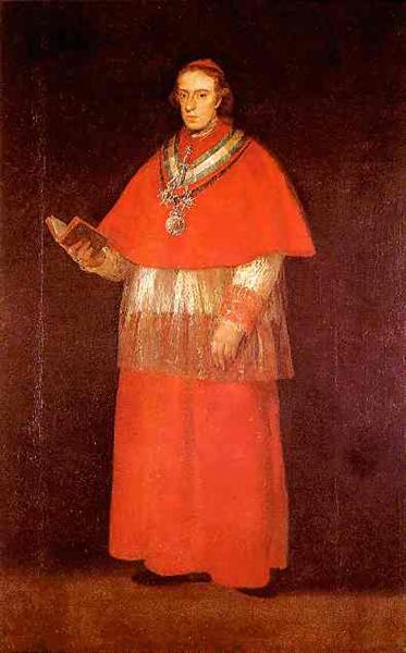 Cardinal Luis Maria de Borbon y Vallabriga, c.1800 - Francisco Goya