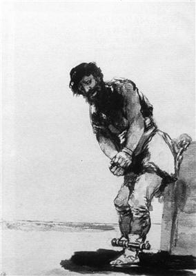 Chained Prisoner, Goya