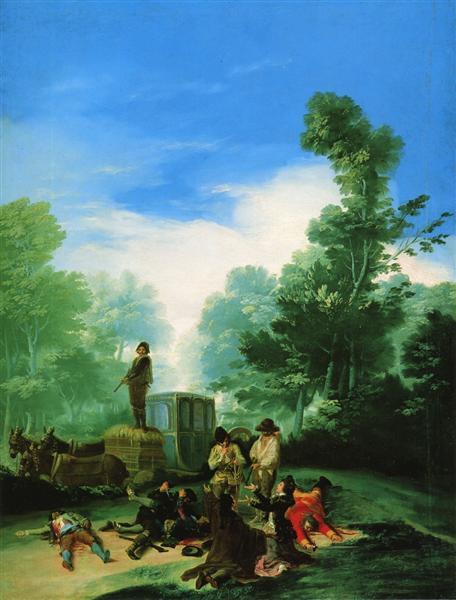 Highwaymen Attacking a Coach, 1786 - 1787 - Francisco Goya