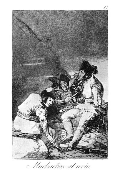 Lads getting on with the job, 1799 - Francisco Goya