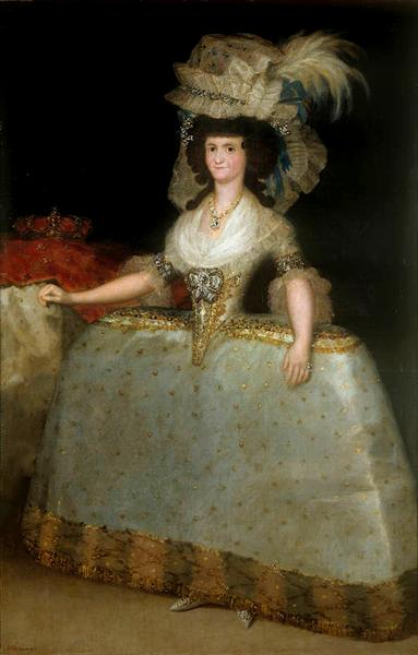 María Luisa of Parma wearing panniers, 1789 - Francisco Goya