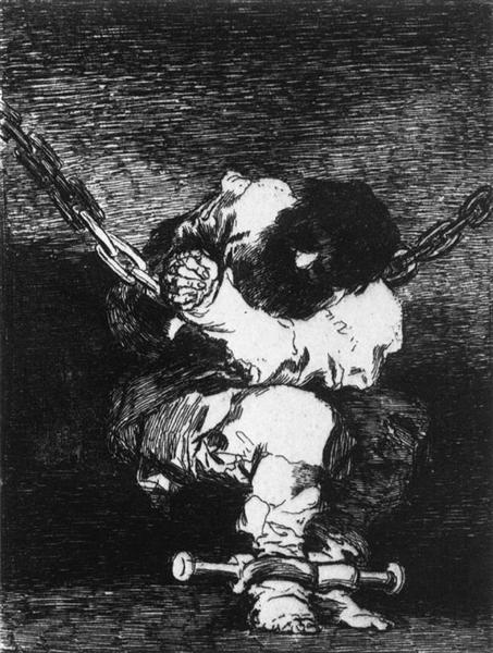 The Captivity is as Barbarous as the Crime, c.1815 - Francisco Goya