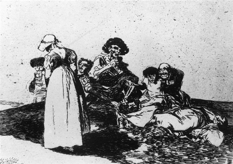 The worst is to beg, 1812 - 1815 - Francisco Goya