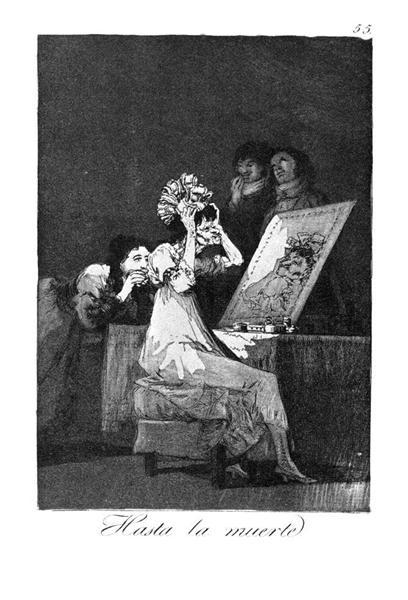 Till death, 1799 - Francisco Goya