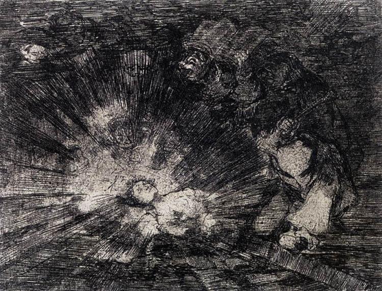 Will she rise again?, 1810 - 1814 - Francisco Goya