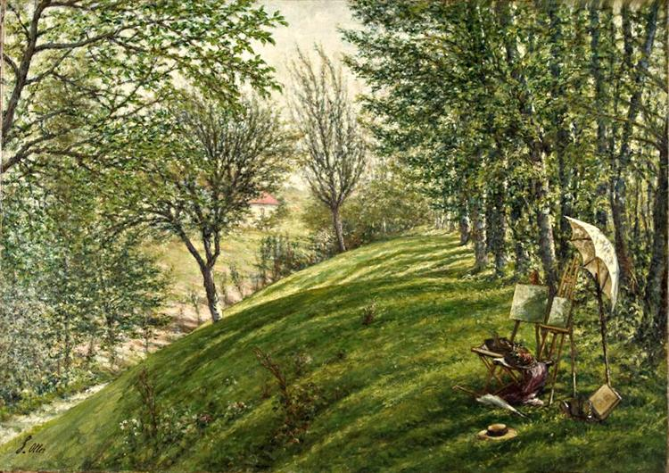 French Landscape I, 1877 - Francisco Oller