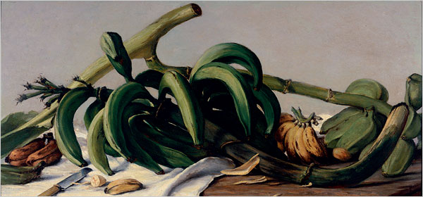 Still Life With Plantains and Bananas 1893 - Francisco Oller