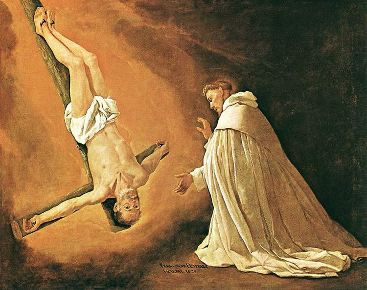 Appearance of St. Peter to St. Peter Nolasco - Francisco de Zurbaran