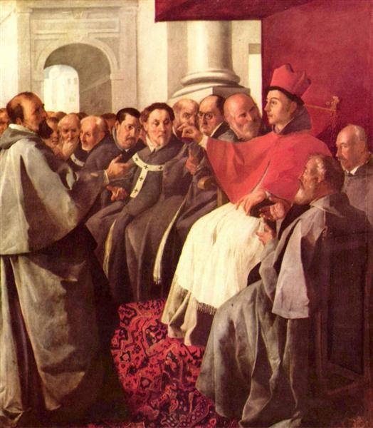 St. Bonaventure at the Council of Lyons - Francisco de Zurbaran