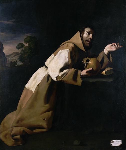 St. Francis in Meditation, 1639 - Francisco de Zurbaran