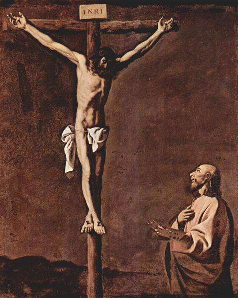 St. Luke as a Painter before Christ on the Cross, c.1660 - Francisco de Zurbaran