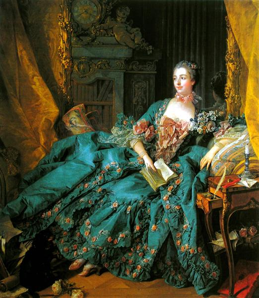 Madame de Pompadour, 1756 - François Boucher