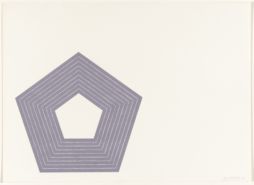 Charlotte Tokayer (from the Purple Series), 1972 - Frank Stella