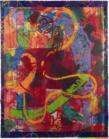 Estoril Five II, from the Circuits series, 1982 - Frank Stella