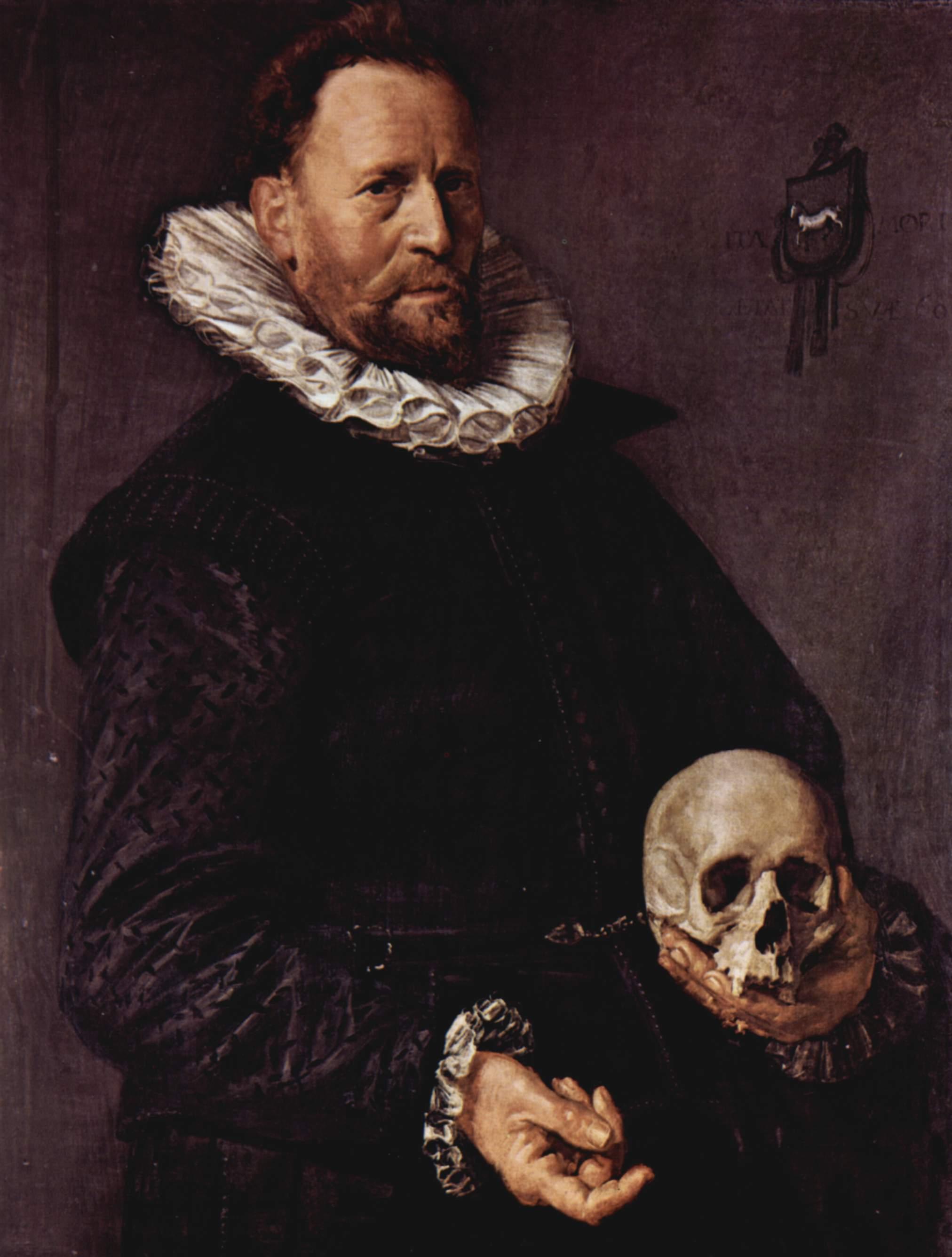 Portrait of a Man Holding a Skull, 1612 - Frans Hals ...