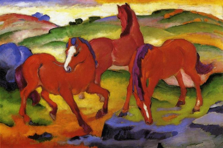 Grazing Horses IV (The Red Horses), 1911 - Franz Marc