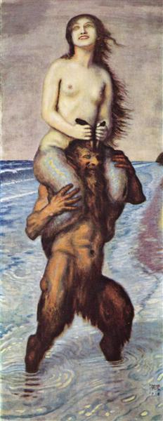 Faun and Mermaid, 1918 - Franz Stuck