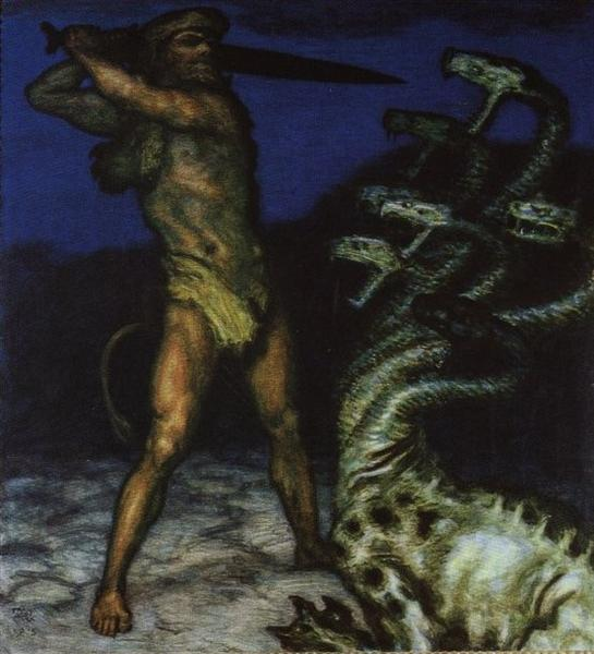Hercules and the Hydra, 1915 - Franz Stuck