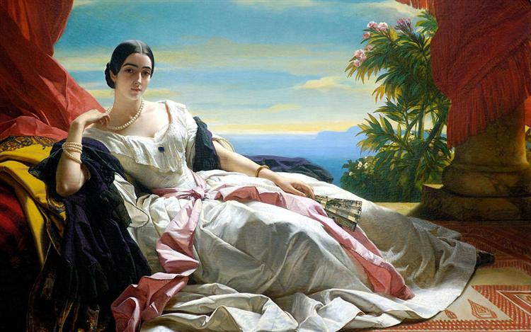 Portrait of Leonilla, Princess of Sayn Wittgenstein - Franz Xaver Winterhalter