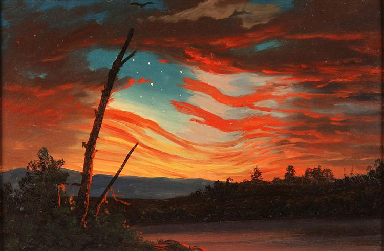 Our Banner in the Sky, 1861 - Frederic Edwin Church