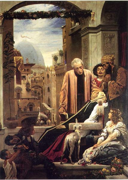 The Death of Brunelleschi, 1852 - Frederic Leighton