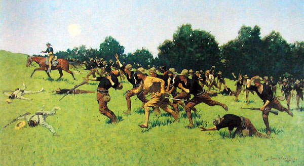 Charge of the Rough Riders at San Juan Hill, 1898 - Frederic Remington